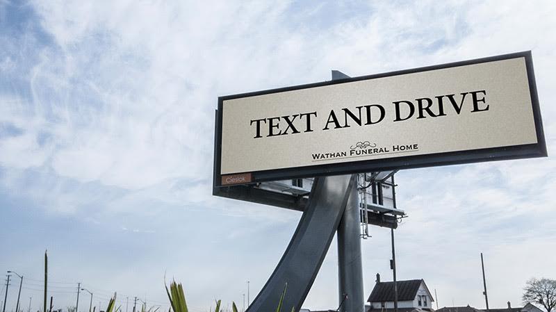 Publicité choc pour les pompes funèbres
