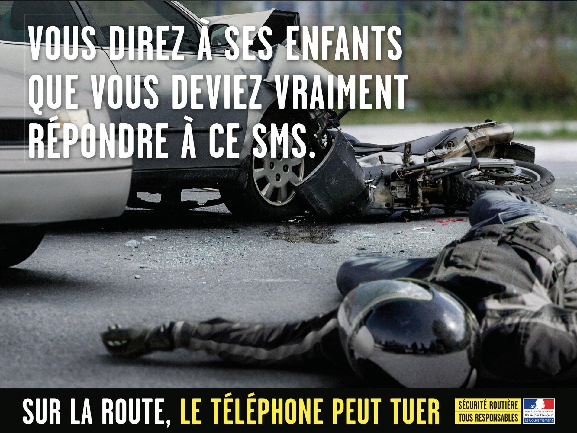 Le téléphone au volant, une campagne publicitaire de la Sécurité Routière