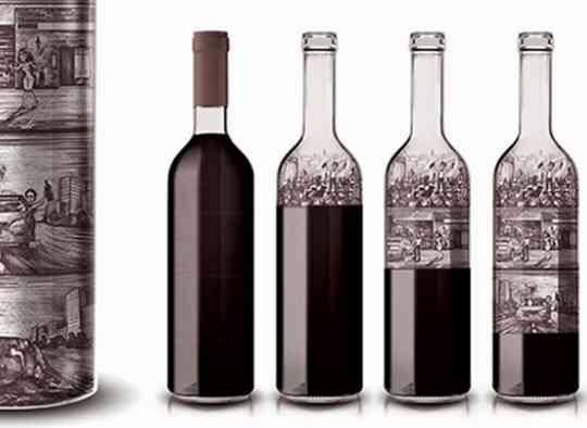 Une bouteille de vin qui sensibilise aux ravages de l'alcool