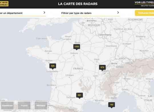carte officielle des radars